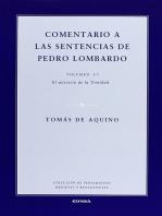 Comentario a las sentencias de Pedro Lombardo I/1