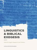 Linguistics & Biblical Exegesis