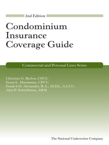 Condominium Insurance Coverage Guide, 2nd Edition