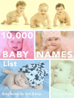 10,000 Baby Names List