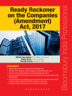 Ready Reckoner on the Companies (Amendment) Act, 2017
