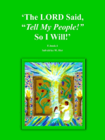 """The LORD Said, """"Tell My People!"""" So I Will!"""