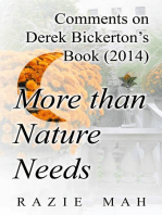 Comments on Derek Bickerton's Book (2014) More than Nature Needs