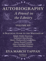 Autobiography - A Friend in the Library - Volume XII