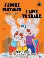 J'adore Partager I Love to Share (Bilingual French Children's Book)