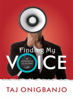 Finding My Voice. A Collection of Poems.