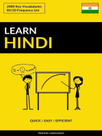 Learn Hindi: Quick / Easy / Efficient: 2000 Key Vocabularies