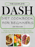 The Complete Dash Diet CookBook For Beginners
