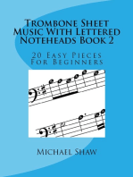 Trombone Sheet Music With Lettered Noteheads Book 2