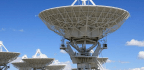 Giant Antennas in New Mexico Search for Cosmic Discoveries