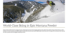 World-Class Skiing in Epic Montana Powder