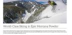 World-Class Skiing in Epic Montana Powder