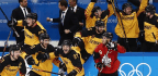 Germany Upsets Defending Champion Canada, 4-3, To Reach Men's Gold Medal Game Against Olympic Athletes From Russia