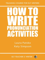 How To Write Pronunciation Activities