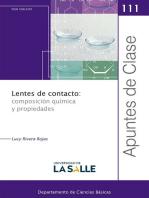 Lentes de contacto: composición química y propiedades