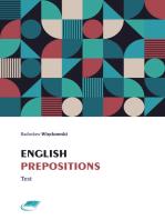 English Prepositions Test