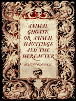 Animal Ghosts, or, Animal Hauntings and the Hereafter