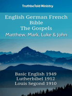 English German French Bible - The Gospels - Matthew, Mark, Luke & John