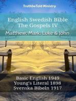 English Swedish Bible - The Gospels IV - Matthew, Mark, Luke & John
