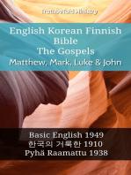 English Korean Finnish Bible - The Gospels - Matthew, Mark, Luke & John