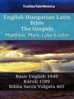 English Hungarian Latin Bible - The Gospels - Matthew, Mark, Luke & John