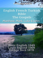 English French Turkish Bible - The Gospels - Matthew, Mark, Luke & John