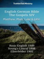 English German Bible - The Gospels XIII - Matthew, Mark, Luke & John