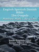 English Spanish Danish Bible - The Gospels - Matthew, Mark, Luke & John