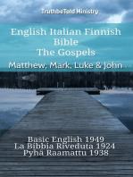 English Italian Finnish Bible - The Gospels - Matthew, Mark, Luke & John