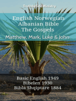 English Norwegian Albanian Bible - The Gospels - Matthew, Mark, Luke & John