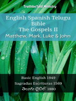 English Spanish Telugu Bible - The Gospels II - Matthew, Mark, Luke & John