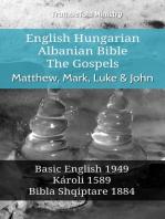 English Hungarian Albanian Bible - The Gospels - Matthew, Mark, Luke & John