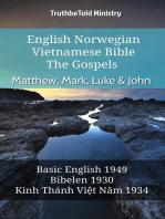 English Norwegian Vietnamese Bible - The Gospels - Matthew, Mark, Luke & John