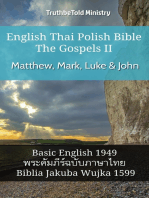English Thai Polish Bible - The Gospels II - Matthew, Mark, Luke & John