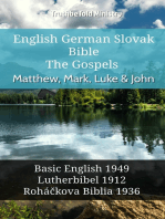 English German Slovak Bible - The Gospels - Matthew, Mark, Luke & John