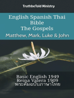 English Spanish Thai Bible - The Gospels - Matthew, Mark, Luke & John