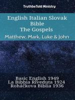 English Italian Slovak Bible - The Gospels - Matthew, Mark, Luke & John