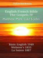 English French Bible - The Gospels IV - Matthew, Mark, Luke and John