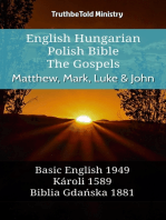 English Hungarian Polish Bible - The Gospels - Matthew, Mark, Luke & John