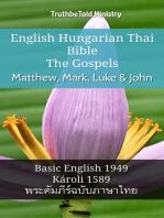 English Hungarian Thai Bible - The Gospels - Matthew, Mark, Luke & John