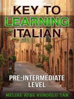 Key To Learning Italian Pre-Intermediate Level