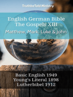 English German Bible - The Gospels XII - Matthew, Mark, Luke & John