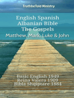 English Spanish Albanian Bible - The Gospels - Matthew, Mark, Luke & John