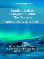 English Italian Hungarian Bible - The Gospels - Matthew, Mark, Luke & John