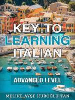 Key To Learning Italian Advanced Level