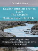 English Russian French Bible - The Gospels - Matthew, Mark, Luke & John