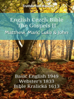 English Czech Bible - The Gospels II - Matthew, Mark, Luke and John