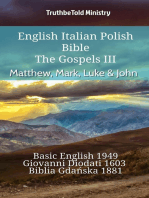English Italian Polish Bible - The Gospels III - Matthew, Mark, Luke & John