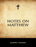 Notes on Matthew