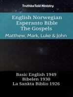 English Norwegian Esperanto Bible - The Gospels - Matthew, Mark, Luke & John